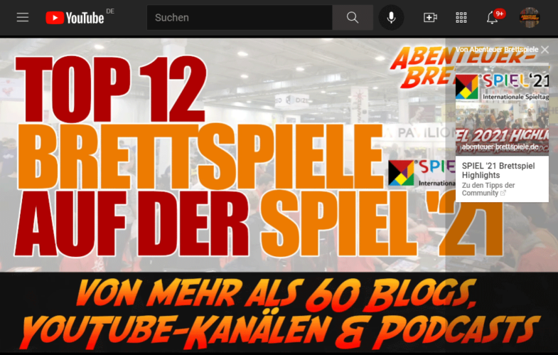 Infokarte Beispiel YouTube Video